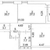 Схема квартиры, 7 этаж 1.2