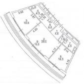 Трехкомнатная квартира - схема по метражу всей жилплощади