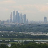Видны башни Москва-Сити