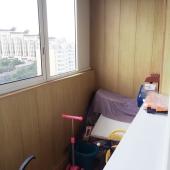 Балкон застеклен