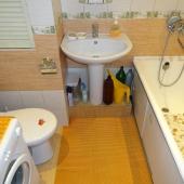 Достаточно неплохое состояние санузла в арендуемой квартире