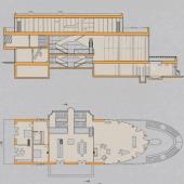 """План дома, который продается под чистовую отделку в коттеджном поселке """"Нэмо"""""""