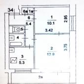 Схема квартиры в Матвеевке