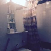 Ванная комната в однокомнатной квартире на улице Струве