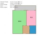 Схема квартиры на Стартовой улице, дом № 27 корп. 1