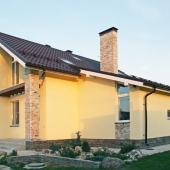 При закладке фундамента этого дома в Ворсино использовалась монолитная плита