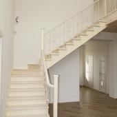 Лестница на 2 этаж по плану металлокаркас и дерево