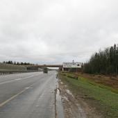 Дорога к поселку через Карасино