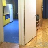 Это фотография из прихожей - видно вход на кухню и в комнату