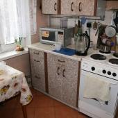 Так выглядит кухня, по площади она получается 7 метров