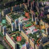 Общая схема как вид сверху этой 1-к. квартиры