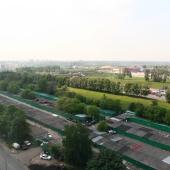 Вид из окна трехкомнатной квартиры на ул. Беловежская, дом № 41, ЗАО Москвы