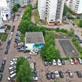 Это вид во двор в сторону улицы Рузской и МПГУ