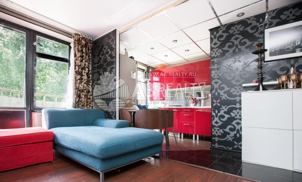 Квартира сделана в виде студии