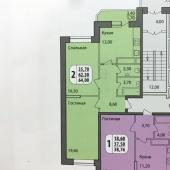 Схема 2-х квартиры под чистовую отделку, которую мы продаём в данный момент.