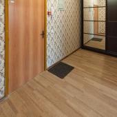 Рядом с входной дверью шкаф для верхней одежды