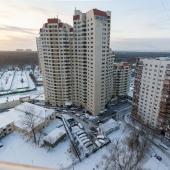Красивый вид на конец Ленинского проспекта из окна дома №137к2