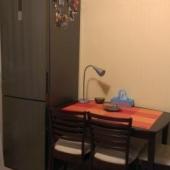 Да, и конечно есть холодильник в углу у окна