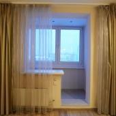 И в одной из комнат тоже лоджию объединили с помещением