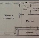План-схема однокомнатной квартиры Оболенский переулок, д. 9к2