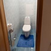 Туалет и сзади щиток сантехники