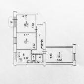 Экспликация 3-к квартиры в г. Москва, ул. Молодёжная, д. 3.