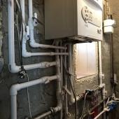 Комната с разводкой воды по дому на первом этаже