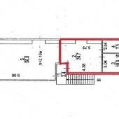 План-схема 3-х офисных комнат и подсобного помещения