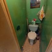 Туалет тоже имеет косметическое состояние, старую советскую плитку (кстати, очень крепкая).