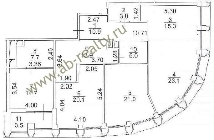 План-схема 4-х комнатной