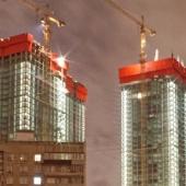 Первые жилые дома «Небо» на Мичуринском проспекте росли по 5 этажей в месяц
