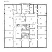 План этажа 4-го площадью 850 кв.м. по адресу: Очаковское шоссе, 28с1