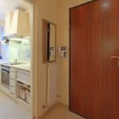 Часть кухни и входная дверь