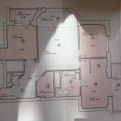 Схема трехкомнатной квартиры на Ленинском 139