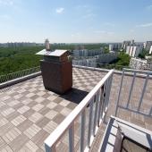 Вид с лестницы на террасу