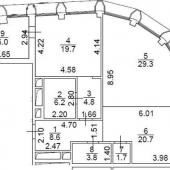 План-схема квартиры под чистовую отделку