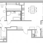После ремонта планируется такая схема расположения помещений в квартире