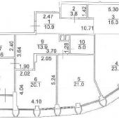 План-схема 4-х комнатной квартиры