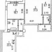Схема квартиры - удобная планировка