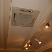 Встроенная вытяжка на потолке