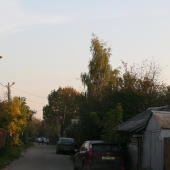 Улица перед домами