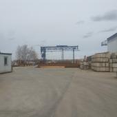 Снять складскую площадку с краном и железнодорожной веткой в пгт Львовский
