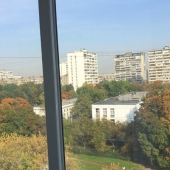 Вид из окна на окружающую природу