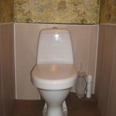 Туалет в квартире микрорайона Братеево, Москва