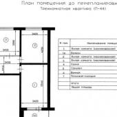 Схема квартиры на ул. Обручева, дом 35 корпус 3