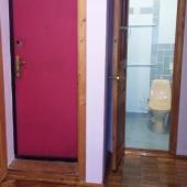 На этой фотографии видна входная дверь и дверь в туалет