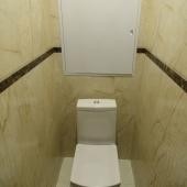 А кстати про туалет можно сказать, что он в таком несколько античном римском стиле сделан.