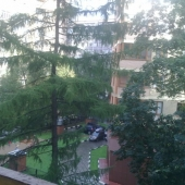 Вид с балкона на двор