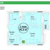 Схема будущей квартиры на продажу в Химках, Мишино