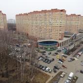 Московский, 3-й мкр., дом № 12, вид из окна на бульвар в сторону бассейна